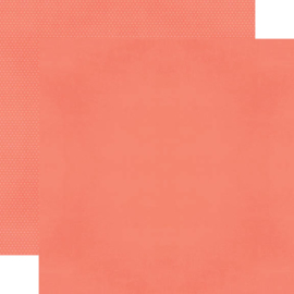 """Coral Textured Cardstock Double Sided 12x12"""""""