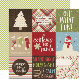 Holly Jolly 4x4 Elements Double Sided 12x12""