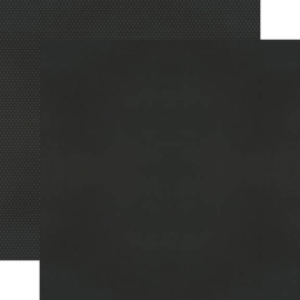 Black Textured Cardstock Double Sided 12x12""
