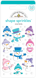Snow Family Shape Sprinkles