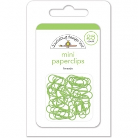 Mini Paperclips Limeade