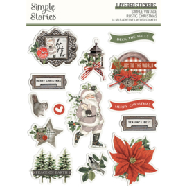 SV Rustic Christmas - Layered Stickers