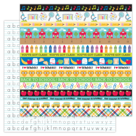 School Days Just Write double-sided cardstock