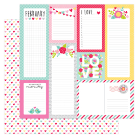 Love Notes Conversation Hearts 12x12 Double Sided