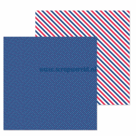 "Navy Dot Double Sided 12x12"" Cardstock"