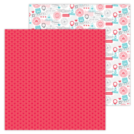 I ♥ Travel  Love This double-sided cardstock