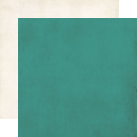 """SV Garden District Turquoise/Ivory Double Sided 12x12"""""""