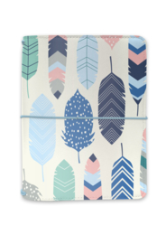 A6 Traveler Notebook Feathers