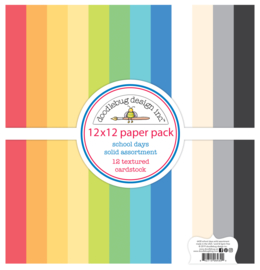 School Days 12x12 Textured Cardstock Assortment Pack