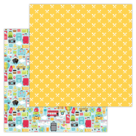 I ♥ Travel  double-sided cardstock
