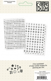 Planner Essentials Clear Number Stickers