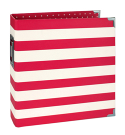 Red Striped 6x8 Designer Binder
