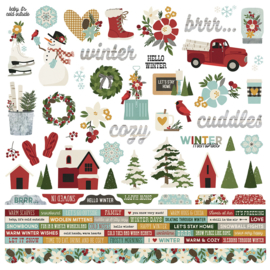 Winter Farmhouse Combo Stickers