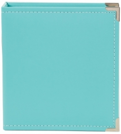 "Sn@p 6x8"" Leather Binder teal"