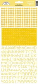 Teensy Type Cardstock Stickers Bumblebee