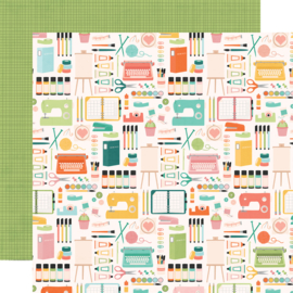 Hey, Crafty Girl Makers Gonna Make Double Sided 12x12""