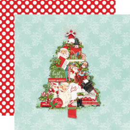 """SV North Pole - The Trimmings Double Sided 12x12"""""""