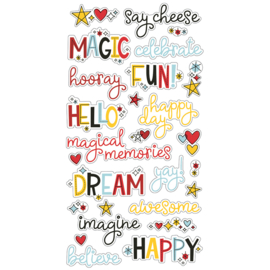 Say Cheese 4 6x12 Chipboard Word Stickers
