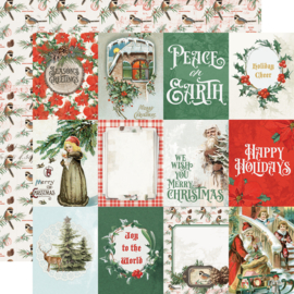 Country Christmas 3x4 Elements Double Sided 12x12""