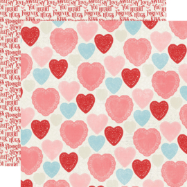 My Valentine Heart to Heart Double Sided 12x12""