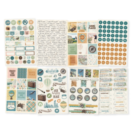 Simple Vintage Traveler 4x6 Stickers