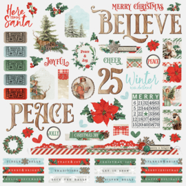 Country Christmas Combo Stickers