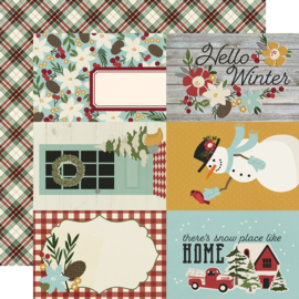 Winter Farmhouse 4x6 Elements Double Sided 12x12""