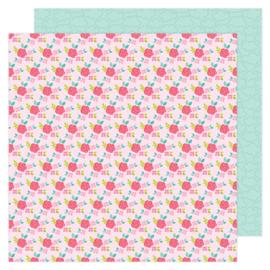 Love Notes Rose Trellis 12x12 Double Sided