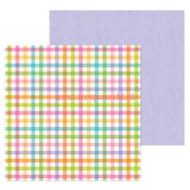 "Playfull Plaid 12x12"" Double Sided Cardstock"