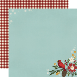 Winter Farmhouse Hello Winter Double Sided 12x12""
