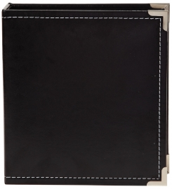 "Sn@p 6x8"" Leather Binder Black"
