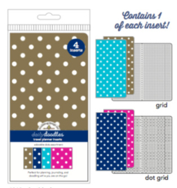 Adorable Dots Daily Doodles Travel Planner Inserts