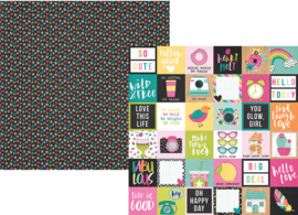 Oh, Happy Day! 2x2 Elements Double Sided 12x12""