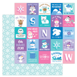 """Snow much Fun 12x12"""" Double Sided"""
