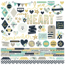 Heart Combo Stickers Sheet