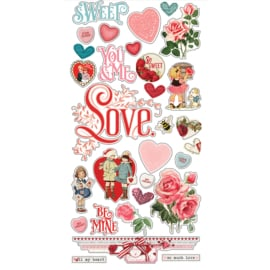 My Valentine 6x12 Chipboard