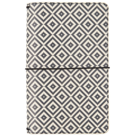 Aztec Black & White Travelers Notebook