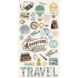 Simple Vintage Traveler 6x12 Chipboard