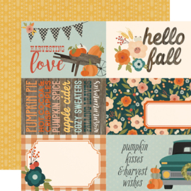 Fall Farmhouse 4x6 Elements Double Sided 12x12""