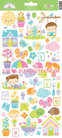 Simply Spring Icon Stickers