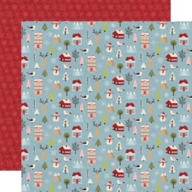 Holly Jolly Winter Wonderland Double Sided 12x12""