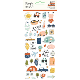 Safe Travels - Puffy Stickers
