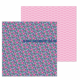 "Les Fleurs Double Sided 12x12"" Cardstock"
