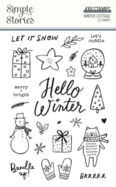 Winter Cottage- Stamps