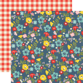 Summer Farmhouse Backyard BBQ Double Sided 12x12""