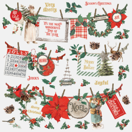 Country Christmas Banners Stickers Sheet