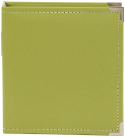 "Sn@p 6x8"" Leather Binder Green"