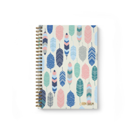 B5 Hardcover Notebook Feathers