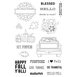 Fall Farmhouse 4x6 Stamps