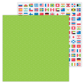 I ♥ Travel World Traveler double-sided cardstock